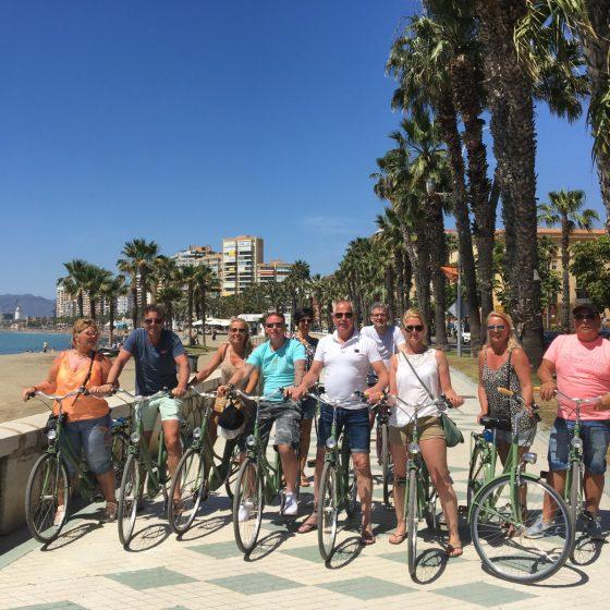 Fietstour Malaga Groepsfoto